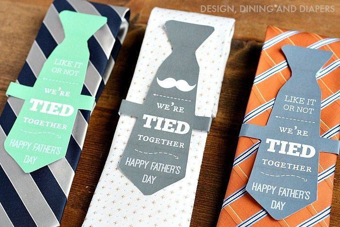 Father's Day Gift Idea and Free Printable - We're Tied Together 2