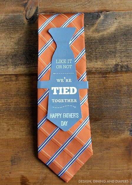 Free Father's Day Printable and Gift Idea - We're Tied Together! 1