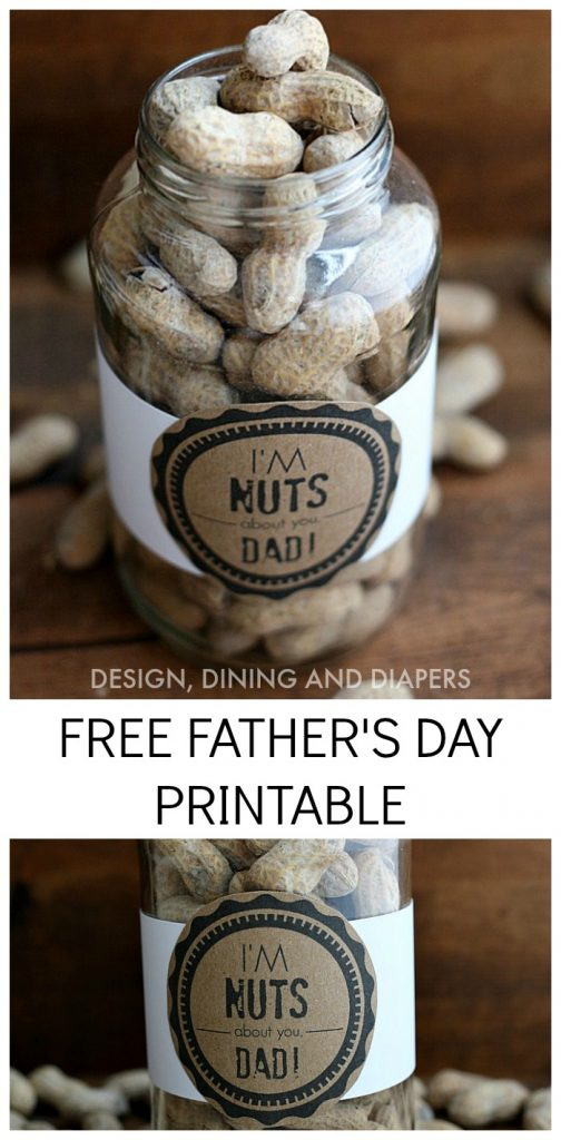 'I'm Nuts About You, Dad!' Free Father's Day Printables!