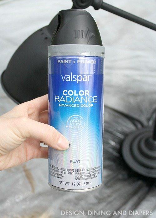Valspar Black Spray Paint