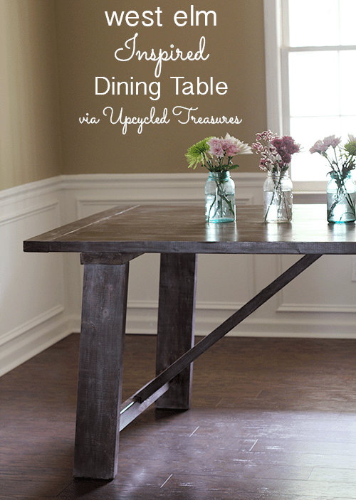 Inspiring Furniture Redos and Tutorials The Golden Sycamore : west elm inspired dining table upcycledtreasures from www.thegoldensycamore.com size 500 x 703 png 166kB