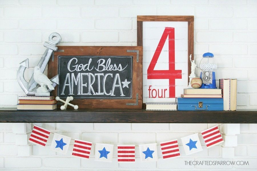 4th-of-July-Mantel-1