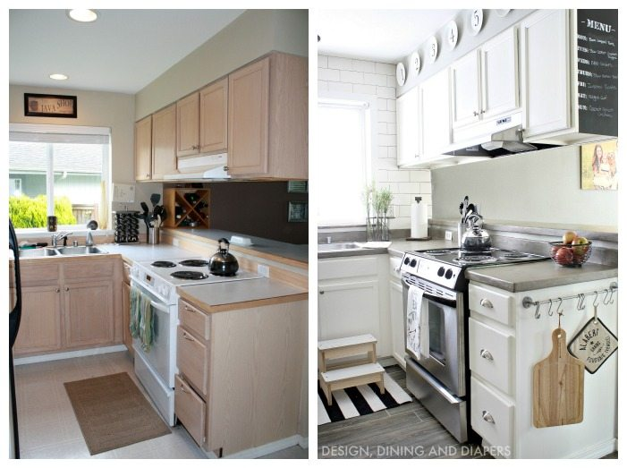 small kitchen makeovers before and after small kitchen remodel with a modern farmhouse style 9342