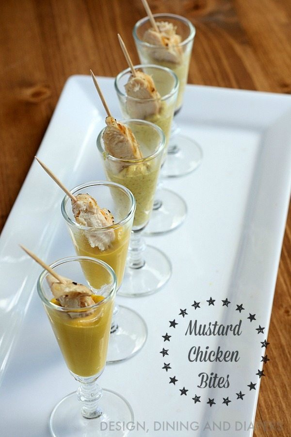 Mustard Chicken Bites - easy party appetizer