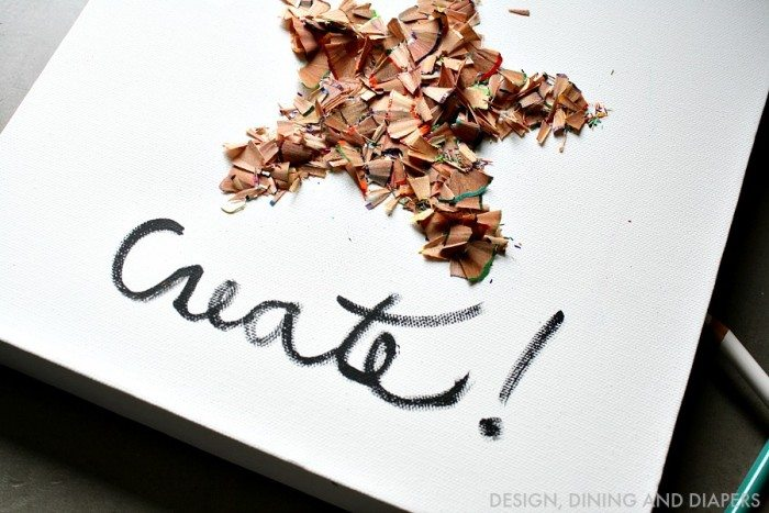 Recycle Color Pencil Shavings and turn them into a fun piece of art! A project for the whole family