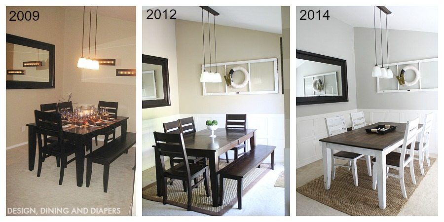 DINING ROOM OVER TIME
