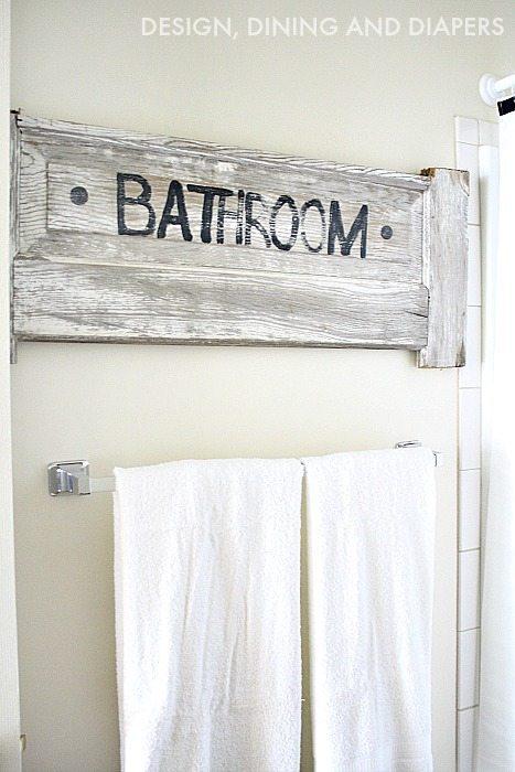 DIY BATHROOM SIGN