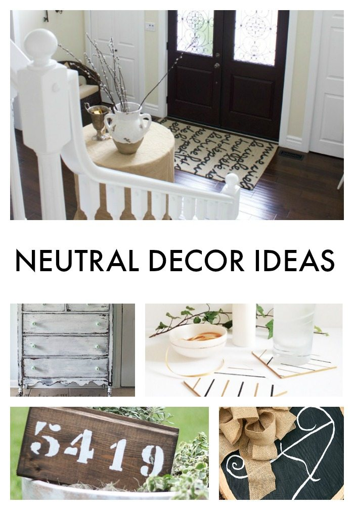 NEUTRAL DECOR IDEAS