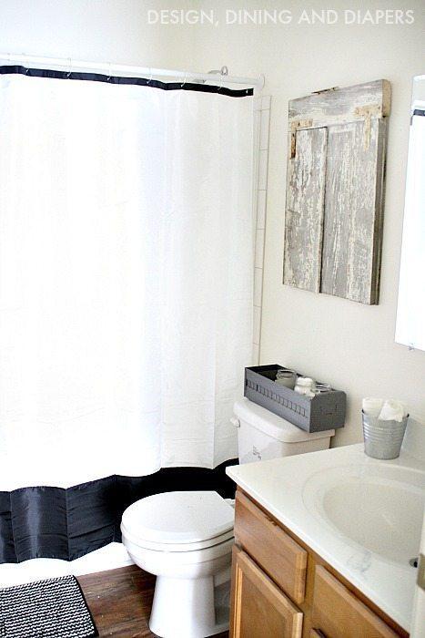 Rustic Black and White Bathroom