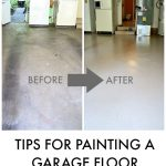 TIPS FOR PAINTING A GARAGE FLOOR