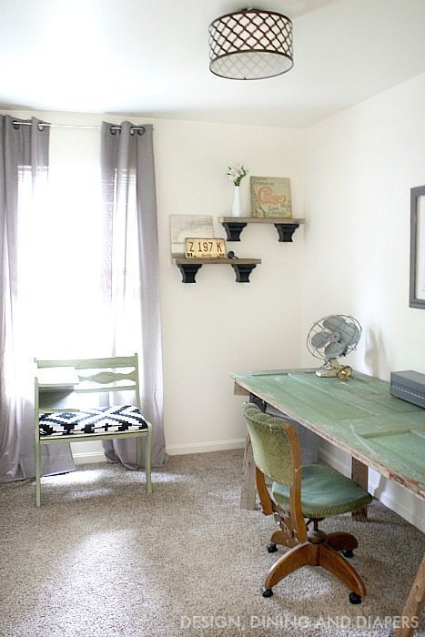 Thrifted Office Makeover on less than $250 budget!