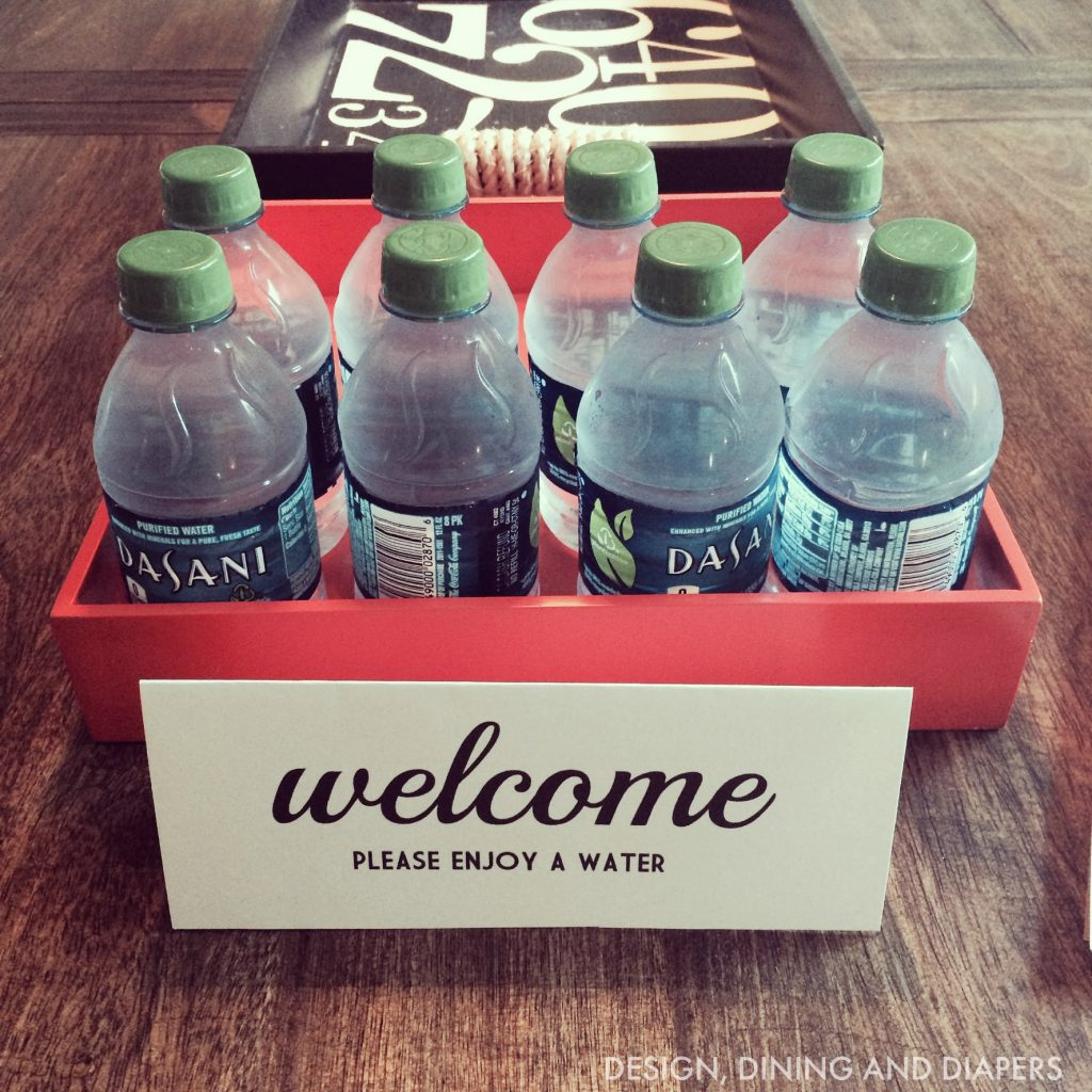 Welcome Water For House Showings