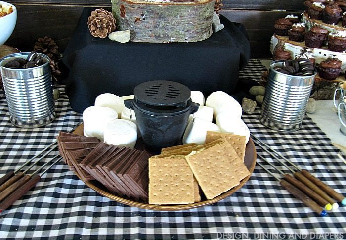DIY S'MORE BAR for Camping Birthday Party
