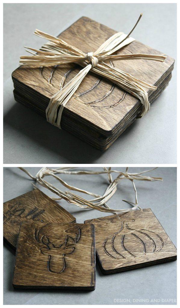 DIY Wood Coasters via designdininganddiapers.com