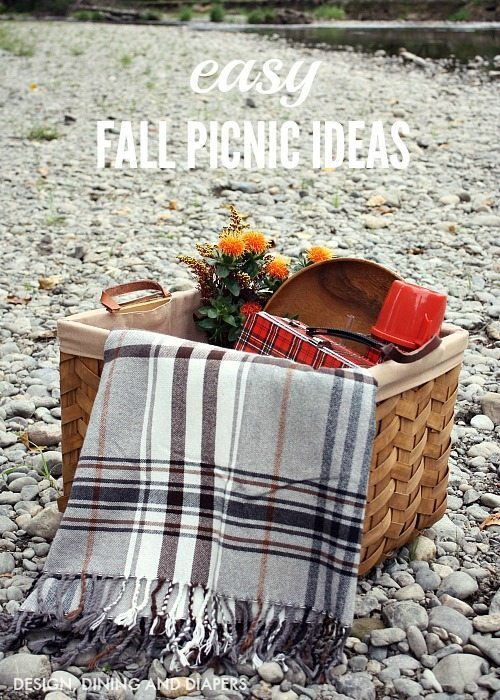 Easy Fall Picnic Ideas - Tips and Tricks from designdininganddiapers.com