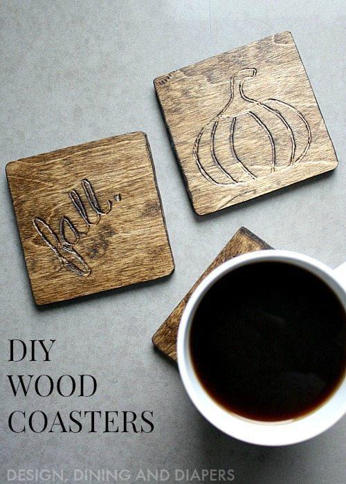 Fall Themed Wood Coasters via @tarynatddd !