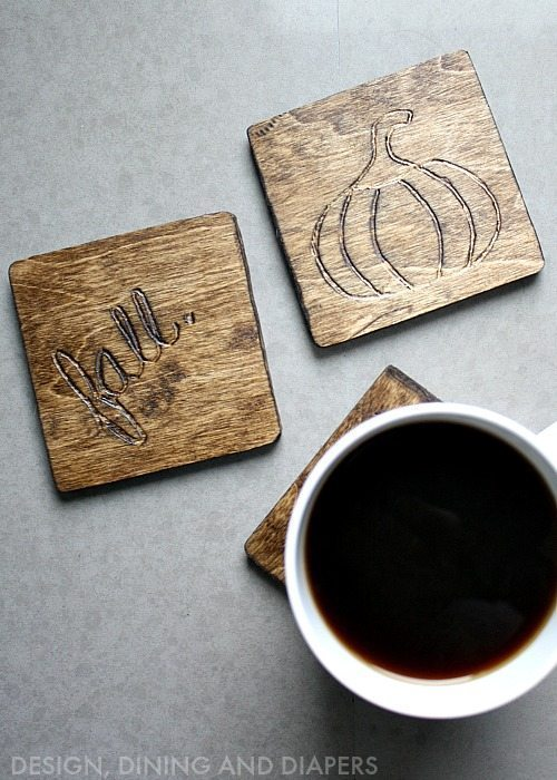 Fall Themed Wood Coasters via @tarynatddd