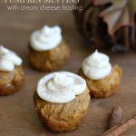 Gluten-Free Pumpkin Muffins With Cream Cheese Frosting