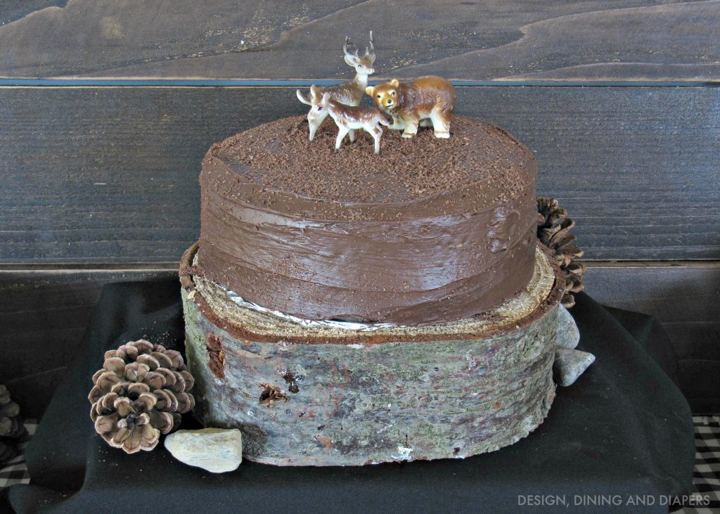 Woodsy Themed Birthday Cake