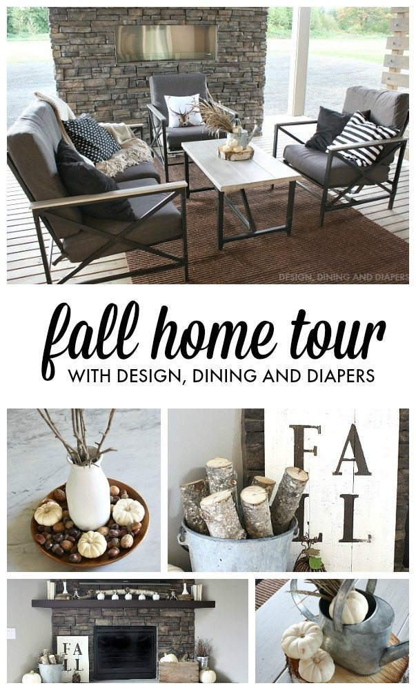 Fall Home Tour with designdininganddiapers.com