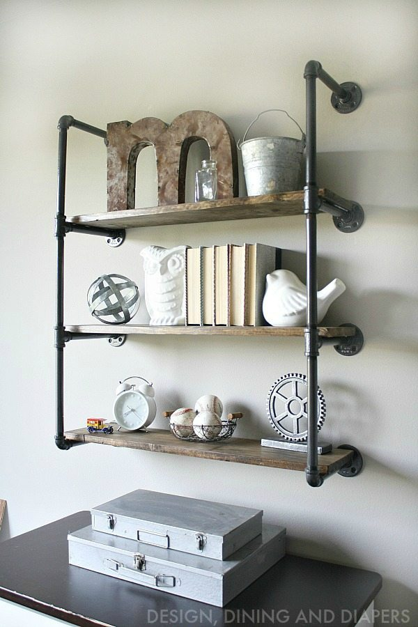 Industrial Piping Shelves Taryn Whiteaker