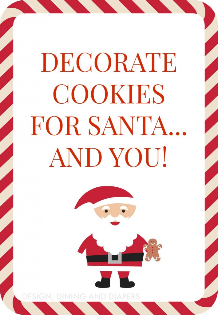 COOKIES FOR SANTA FREE PRINTABLE