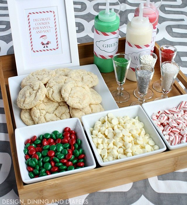 Christmas Cookie Decorating Station for kids or adults! Great party activity!