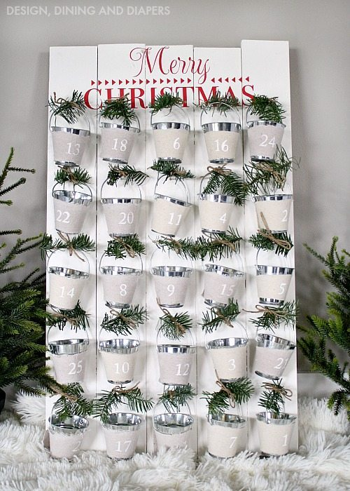 DIY Advent Calendar With Bucket Pails