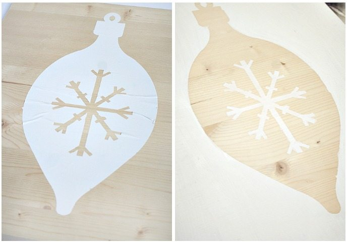 DIY Holiday Art on Wood