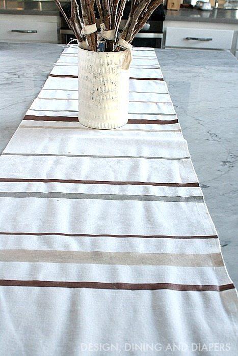 DIY Striped Table Runner
