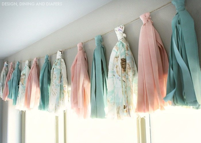 Fabric Tassel Window Valence