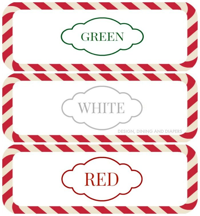 Frosting Container Printables