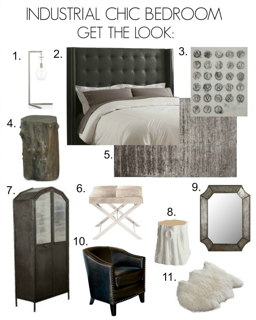 Industrial Chic Bedroom Inspiration - Click to get the look