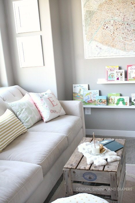 Little Girl Reading Nook and Sitting Area