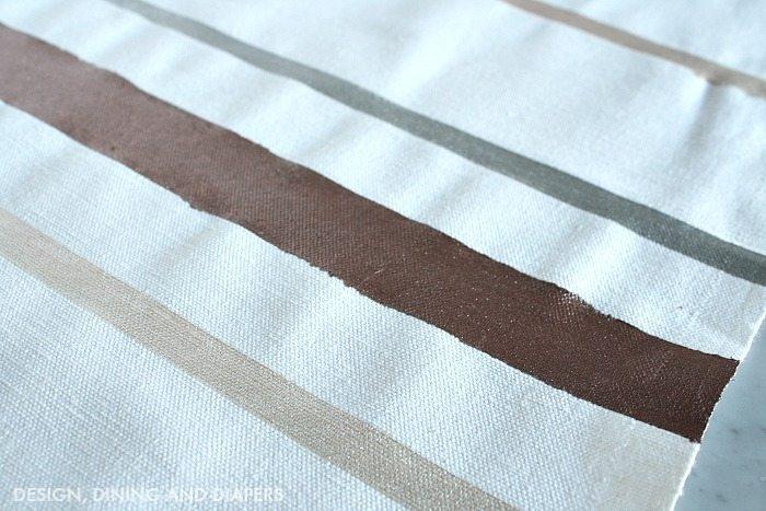 Metallic Striped Table Runner