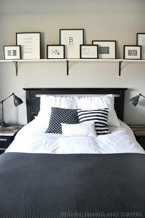 Rustic Modern Black and White Bedroom