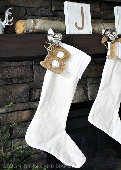 Stained Monogram For Stockings
