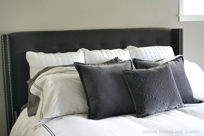 Black, gray and White Bedding