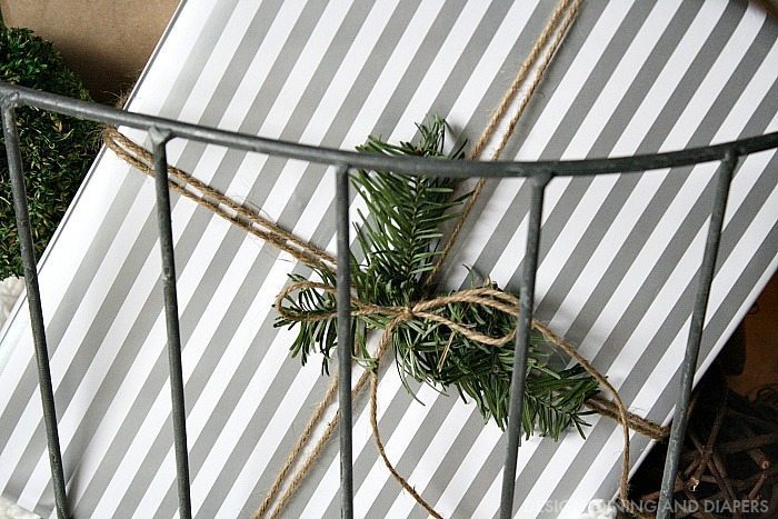 Christmas Wrapping using natural elements