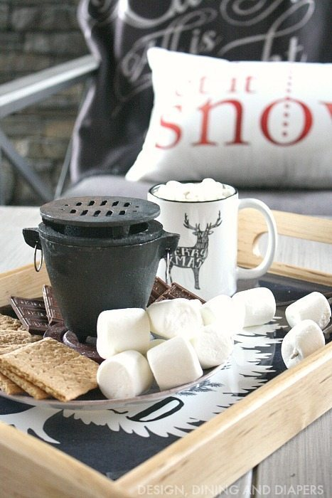 Mini DIY S'more station