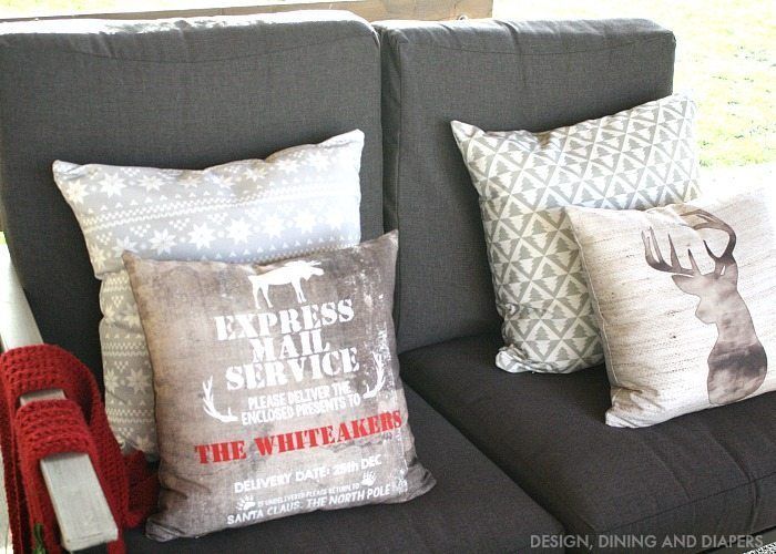 Personalized Rustic Pillows