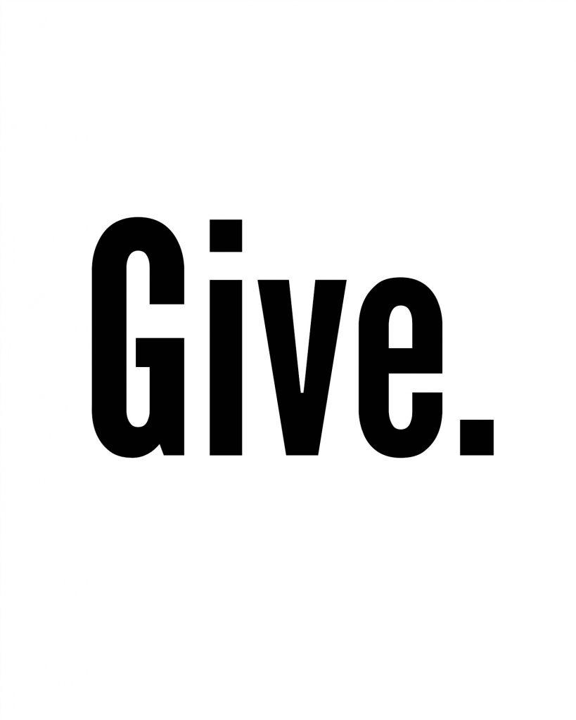 Give Printable
