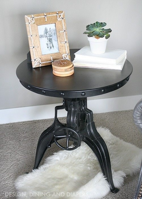 Industrial Crank End Table by Arhaus