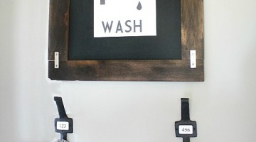 Kid's Towel Hanging Station - Free printable available on the blog!