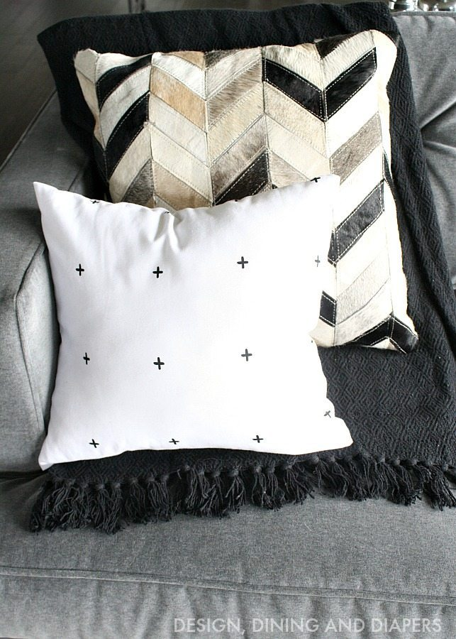 Black and White Rustic Modern Pillows