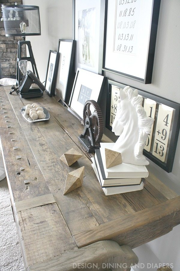 Gorgeous Rustic Console Table
