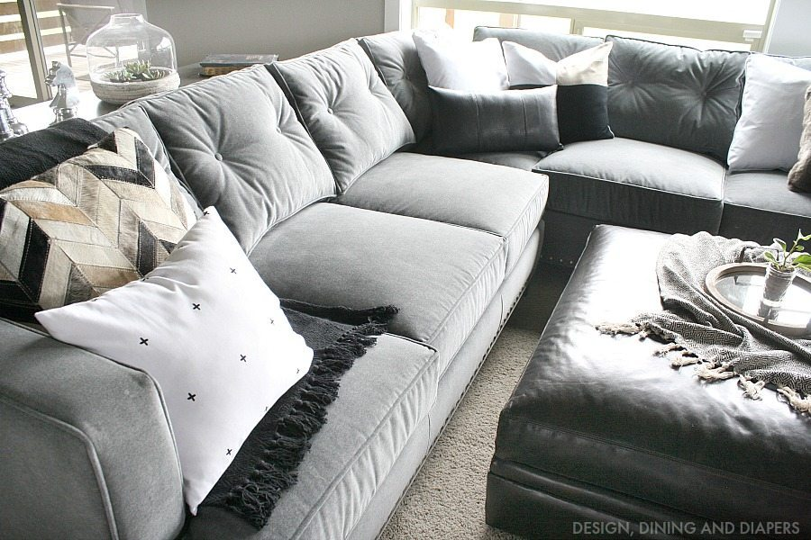 Gray Sectional from Arhaus