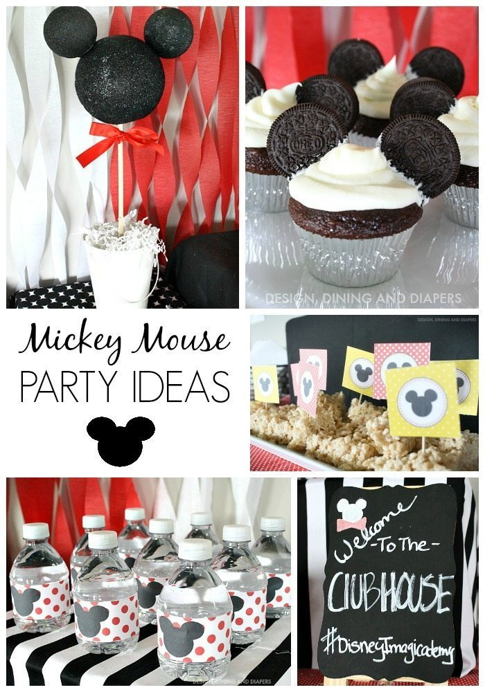 Mickey Mouse Party Ideas with Mickey Cupcakes and water wraps.
