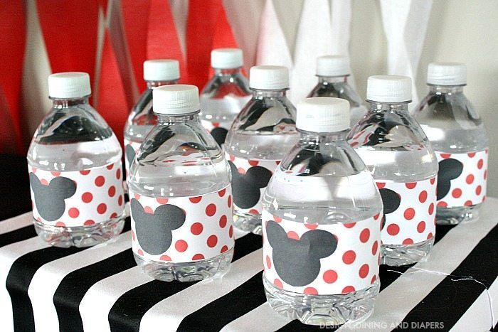 Mickey Mouse Water Bottle Labels