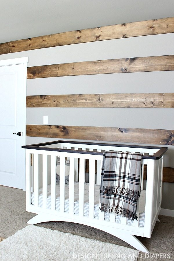 DIY Wood Striped Wall